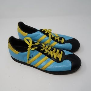 Mens Adidas Baby Blue Yellow GAZELLE Sneakers 13